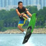 Glimpse of wakeboarding